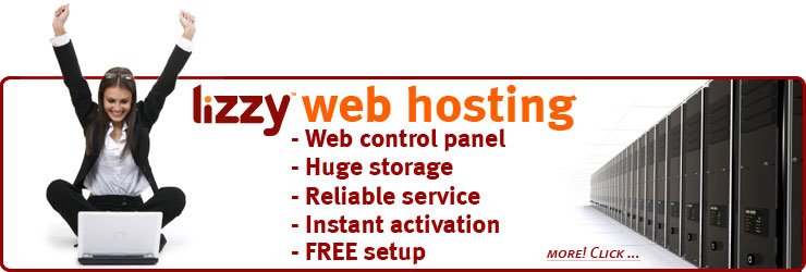 Every single Lizzy Hosting web hosting plan features a cPanel web management interface, reliability, massive storage allocations, instant activation and more.
